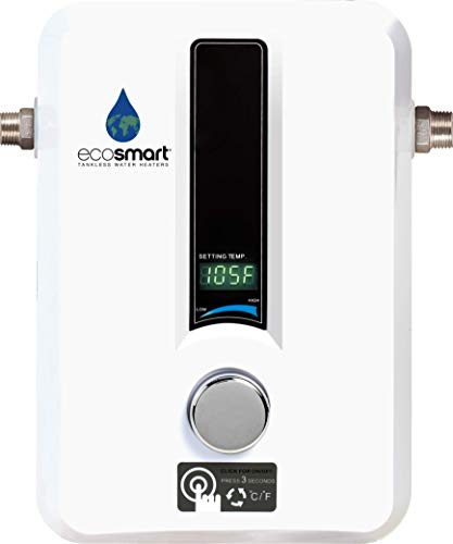 EcoSmart 8 KW Electric Tankless Water Heater, 8 KW at 240 Volts with...