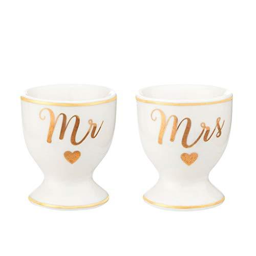 Sass and Belle Eierbecher Mr & Mrs, 2 Stück im Set - ideal als Geschenk zur Hochzeit