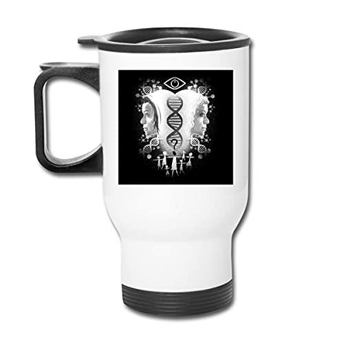 GennyHeger Who Am I Orphan Black Stainless Steel Tumbler Splash Cold Proof Lid Drinks 16oz Coffee Mug