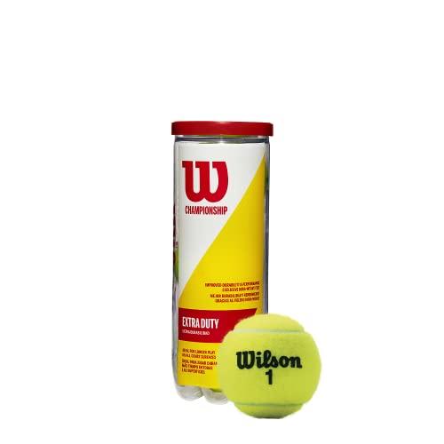 Wilson Championship Pelotas de Tenis de Gran Rendimiento, 4 Unidades, Amarillo