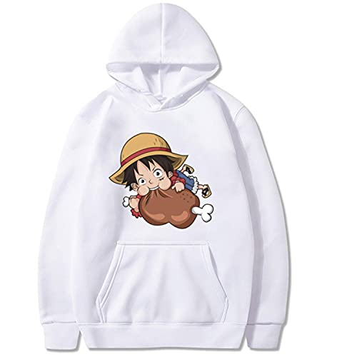 One Piece Hoodie Hot Anime Elements Winter Cotton Pullovers Tops