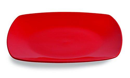Tognana Assiette à dîner Times Square Rouge 26 x 26 cm