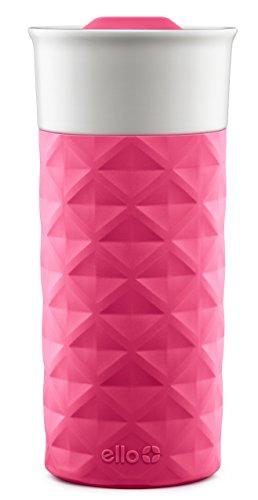 Ello Ogden BPA-Free Ceramic Travel Mug with Lid Pink 16 oz