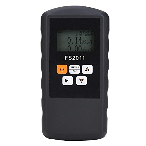 Medidor de radiación, FS2011 Detector de radiación β γ χ Medidor nuclear de rayos gamma Dosímetro Alarma radioactiva utilizada en el entorno de fábrica, entorno doméstico, pruebas de gemas
