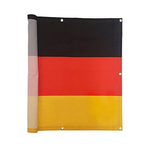 jarolift Balkonbespannung Sichtschutz 500 x 90 cm - Deutschlandfahne Motiv - wasserabweisend