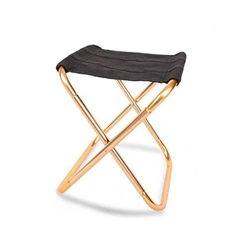 TQJ Silla Plegable Playa Portátil Al Aire Libre Plegable Sillas Compacta Ultraligero Mini Taburete for Acampar La Pesca, 2 Colores Sillal Plegable Camping (Color : Gold)