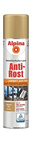 Metallschutzlack Spray gl. gold 400ml Anti-Rost, RAL 1036