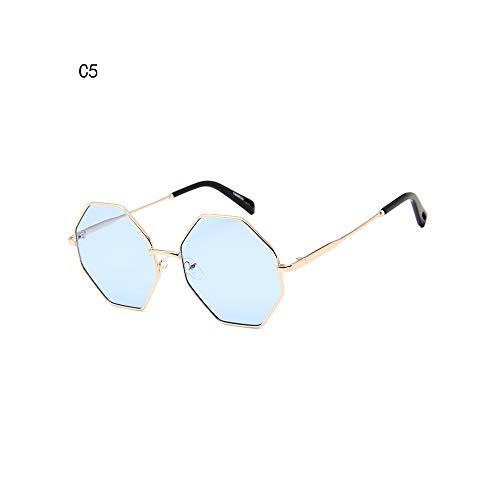 WEIHAOQIANG FrauenSonnenbrilleKleine Polygonal Sunglass Platz Shades WeiblicheOctagon Sonnenbrillen UV400