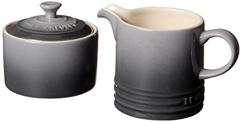 Le Creuset Stoneware Cream and Sugar, 2 pc. Set, Oyster