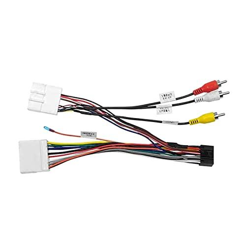 RJJX Audio estéreo de automóvil 16Pin Android Adaptador de Cables de alimentación de Android CD/DVD Reproductor de cableado Apoyo para Subaru Forester