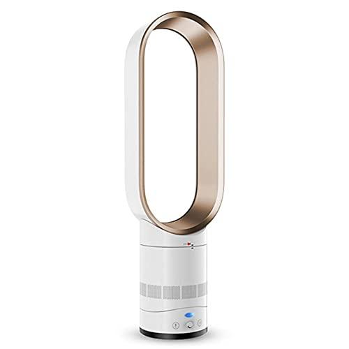 DLXYch Ventilador sin aspas , seguridad de iones negativos ultra silencioso, adecuado para el ventilador de torre de seguridad del dormitorio de la oficina en el hogar con control remoto azul