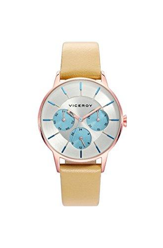Viceroy Damen Multi Zifferblatt Quarz Smart Watch Armbanduhr mit Leder Armband 471162-17