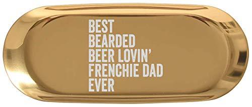 Mug Funny Drinking Trinket Dish Decor - Mens Best Bearded Beer Lovin Frenchie Dad for Birthday Dog Owner 7' Jewelry Key Tray Earrings Trays