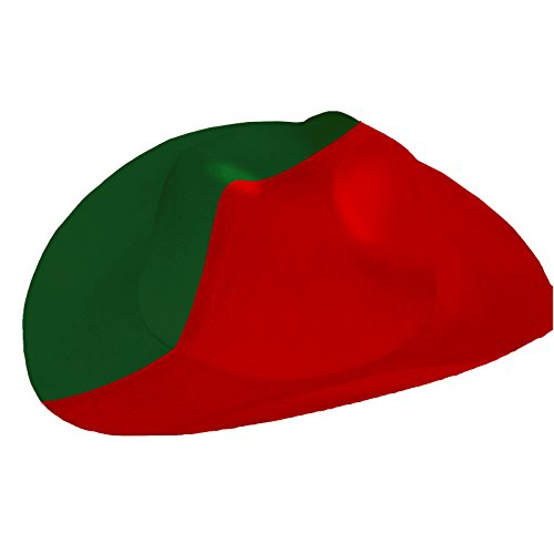 BRUBAKER - Chapeau de Cowboy - Portugal/Maroc - Collection Supporter - Vert/Rouge - Unisexe