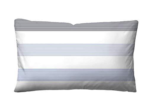 Beauty.Scouts Schweizer-Satin Kissenbezug Fabio, blau, 40 x 80 cm, Baumwolle, Schlafzimmer, Bettausstattung, Kopfkissenbezug, Bettzubehör