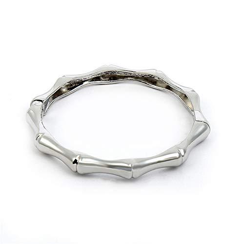 AZEWE Pulsera para mujer chapada en oro de cristales y acero inoxidable, oro rosa, plata, ideal como regalo de cumpleaños, boda, para mujeres, madres y niñas