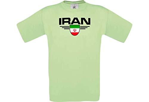 Shirtstown Man Camiseta Irán Camiseta de País con Su Nombre Desdeado y Su Número Deseado, Fútbol - Mint, L