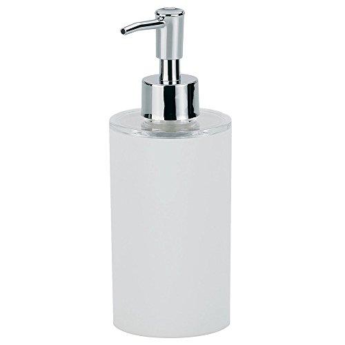 kela Seifenspender Lis aus ABS-Kunststoff in weiß, Plastik, 6.5 x 6.5 x 18.5 cm