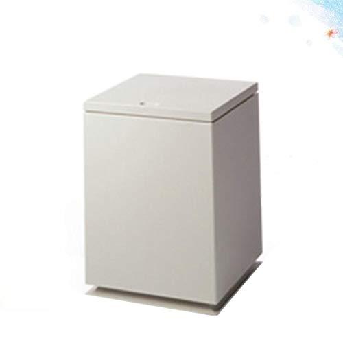 weichuang Cubo de basura tipo empuje para el hogar, la oficina, el baño, la papelera, la mesa, el cubo de basura organizador de cubos de basura (color : tipo A caqui)