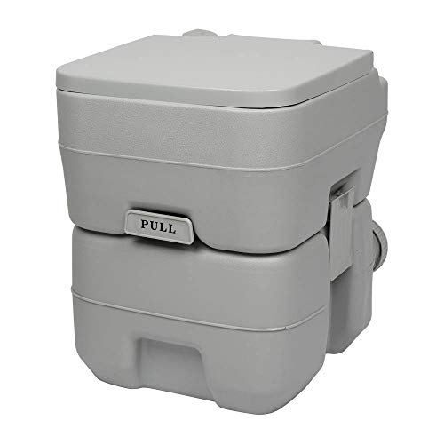 Wealthgirl Aggiornato 5,3 Galloni 20L filo WC campeggio viaggio WC portatile WC WC WC rimovibile filo WC per auto, canottaggio, campeggio