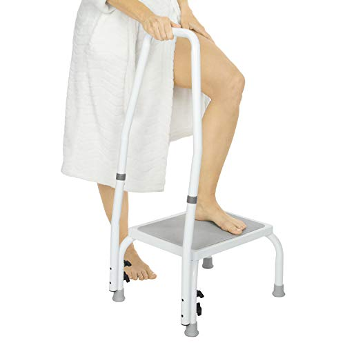 Pleasing Safe Step Stool For Seniors Should You Use One Graying Onthecornerstone Fun Painted Chair Ideas Images Onthecornerstoneorg