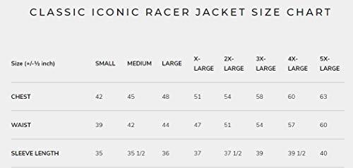 Members Only Men's Original Iconic Racer Jacket, Black, Large