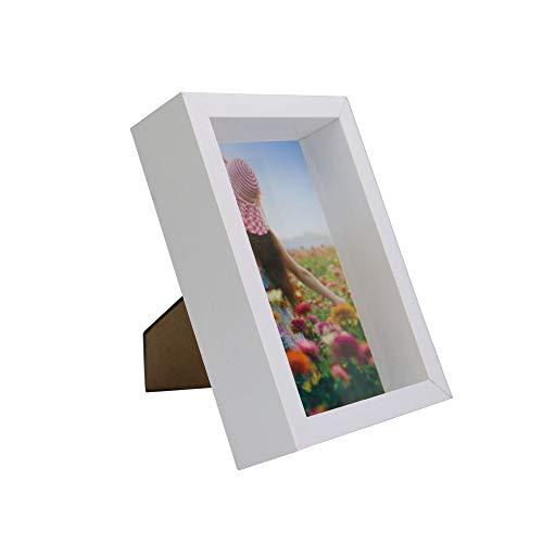 Marco fotos 3D | Caja fotos 4x6 pulgadas | Color blanco