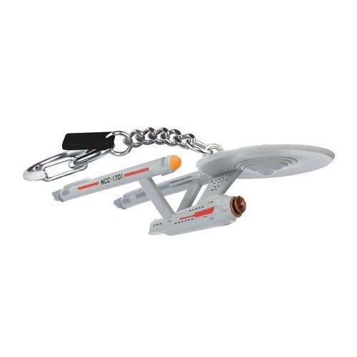 STAR TREK Schlüsselanhänger Set 3teilig - Enterprise Modelle: NCC 1701 + 1701D - 3 verschiedene Keychains zum Sonderpreis