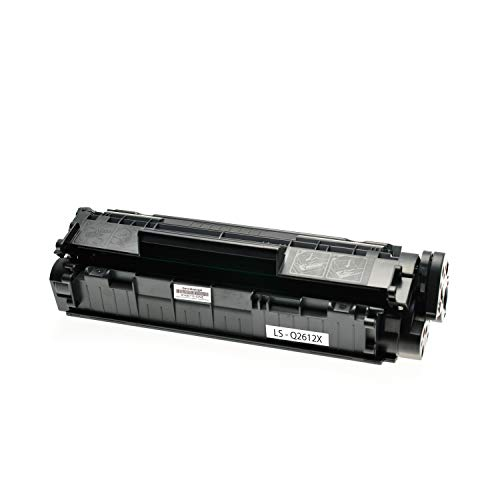 Logic-Seek Toner kompatibel zu HP Q2612A Q2612X 12A 12X Laserjet1010 1012 1015 1018 1020 1022 1022N 1022 N M 1005 M 1319 HP Laserjet 3015 3020 3030 3050 3052 3055 Schwarz, 4.000 Seiten