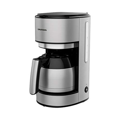 GRUNDIG Kaffeemaschine mit Thermokanne und kraftvollen 1000 Watt, Edelstahl