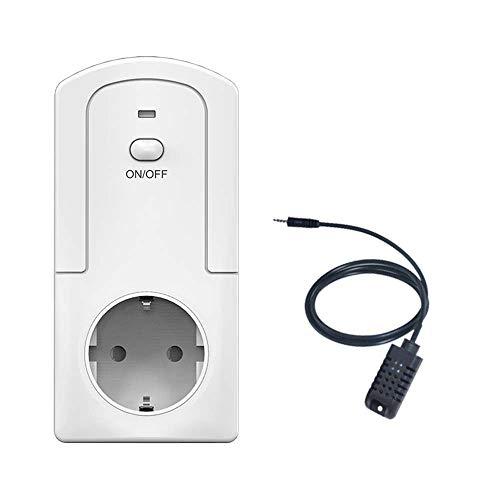 Onepeak Smart WiFi Plug Control remoto Termostato y humidistato con aplicación eWeLink, temporizador, automático/manual, función de retroalimentación estadística