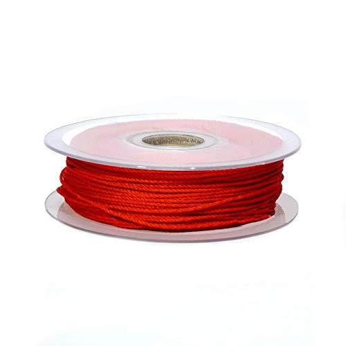 Matsa 100m Cordón Macramé 1mm, Cuerda de Poliéster para Pulseras, Collares,...