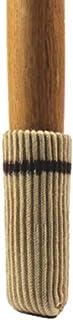 TEKEFT 16pcs White Color Knitting Wool Furniture Socks/Chair Leg Floor Protector (White Color) Light gray
