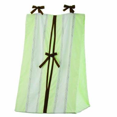 Bacati - Metro Lime/White/Chocolate Diaper Stacker