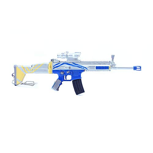Pistola de juguete de 20,5 cm. Llavero de metal para rifle con cicatriz, accesorios decorativos para fiestas, accesorios de personajes, regalos creativos, piezas desmontables, diversión