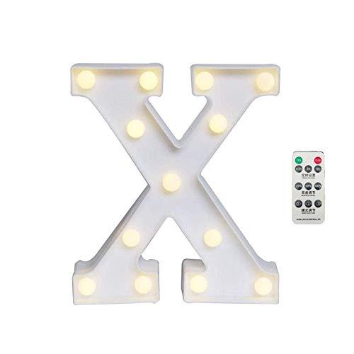 AOK DOOR Lettre Lumineuse Enseigne Lumineuse Lettre Lampes pour La Maison Décoration Portable Lumière de Nuit Night Lights pour Les Enfants x
