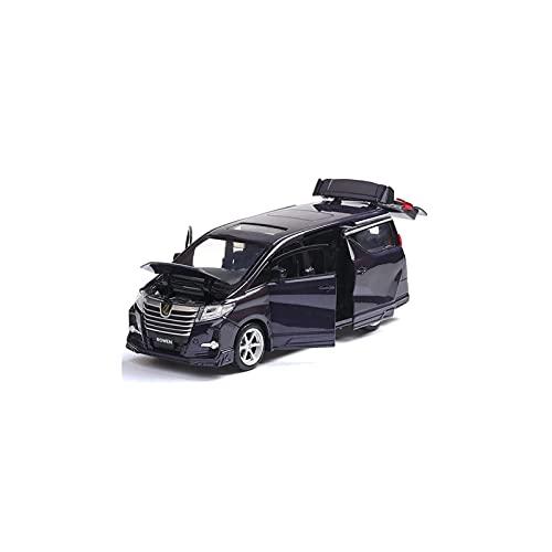 DXZJ Simulado 1:32 para Toyota Alpha Modelo De Coche Tirar hacia Atrás Diecasts Decoración De Aleación Juguete para Niños Juego De Metal Regalo Educativo (Color : Blue, Size : A)