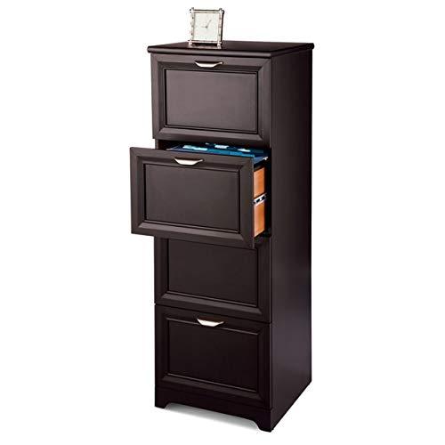 "Realspace Magellan 19""D 4-Drawer Vertical File Cabinet, Espresso"