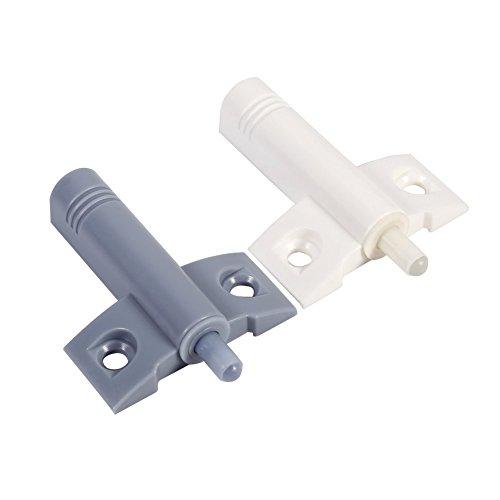 20 Stück Stoßdämpfer für Tür, Schrank, Schublade, Stoßstange, weiche Pads, Dämpferkissen (grau)