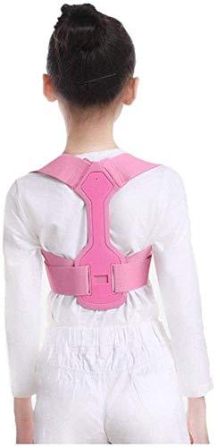 AWSERT Corrector de Postura Corrector de Postura, Hombro Ajustable del Apoyo Trasero de la Cintura Soporte Corrector de la Postura for niños Adolescentes (Color : Pink, Size : Medium)