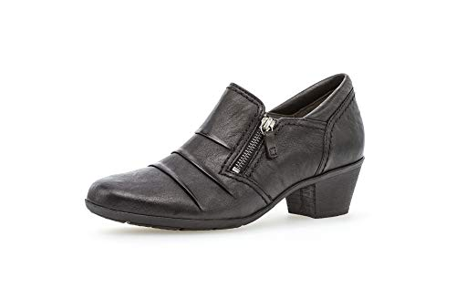 Gabor Damen Pumps, Frauen Hochfront Pumps,Best Fitting,Reißverschluss, Absatzschuhe hochhackige Schuhe stoeckelschuhe Court,schwarz,41 EU / 7.5 UK