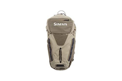 Simms Freestone Ambidextrous Fishing Sling Pack, Water Resistant Backpack, Tan