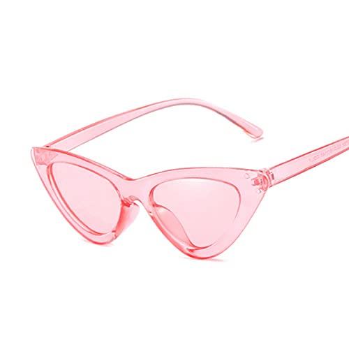 MIMITU Gafas de sol para mujer, espejo, triángulo negro, gafas de sol, lentes femeninas, gafas para mujer, rosa