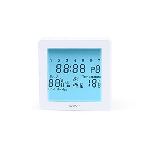 Cronotermostato digitale programmabile WI-FI:controllo temperatura ovunque, display LCD touch screen Comando tramite Smartphone,6periodi differenti programmabili