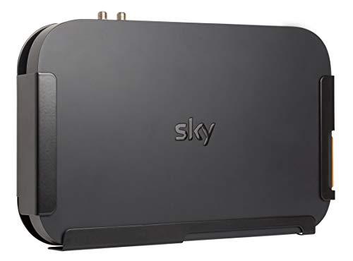Sky Q Box Wandhalterung (1 TB und früher 2 TB) – Hergestellt in Großbritannien von Q-View (Stahl). Wichtiger Hinweis: siehe Details unten.