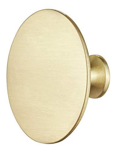 Gedotec meubelklink messing kastknop antiek voor laden - H1960 | deurknop groot Ø 60 mm | ladekast knop goud look rond | 1 stuk - Design Knauf landhuisstijl met schroeven