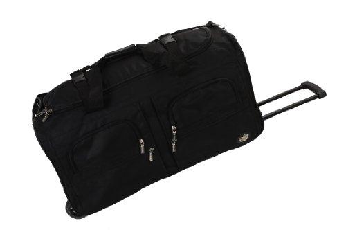 Rockland Rolling Duffel Bag, Black, 36-Inch