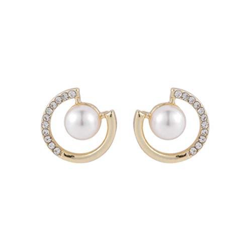 Yhhzw Pendientes Pequeños De Perlas Pendientes De Diamantes De Imitación De Perlas De Color Dorado Accesorios De Oro Para Mujeres Estilo Simple