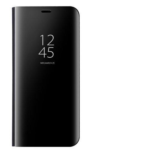Dedux Coque pour Samsung Galaxy A70, Clear View Etui à Rabat Cover Flip Translucide Standing Support Miroir Antichoc Portable Case pour Samsung Galaxy A70.Noir