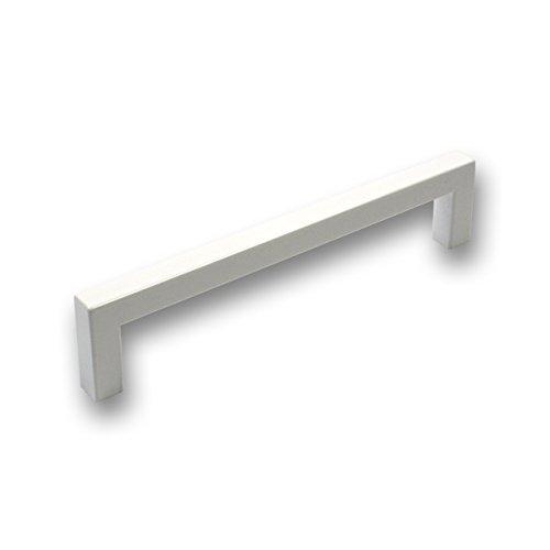 SIRO Möbelgriff Wallerfangen, Schlicht, Kunststoff glasiert weiß hochglanz, 137 mm x 30 mm x 9 mm, LA 128 mm, SM8137F-137GL36